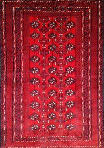 שטיח פרסי עבודת יד קולקציה בלוץ' דגם 1603 צבע רקע אדום
