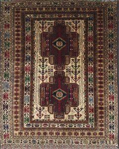 שטיח פרסי עבודת יד קולקציה בלוץ' דגם 1606 צבע רקע בז'