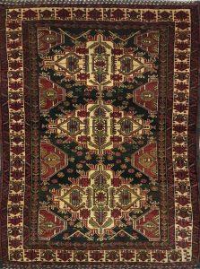 שטיח פרסי עבודת יד קולקציה בלוץ' דגם 1607 צבע רקע כחול