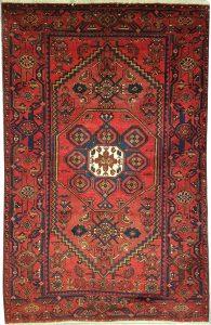 שטיח פרסי עבודת יד קולקציה המדאן דגם 916 בצבע רקע אדום
