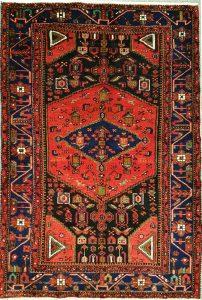 שטיח פרסי עבודת יד קולקציה המדאן דגם 918 בצבע רקע אדום