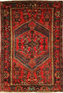 שטיח פרסי עבודת יד קולקציה המדאן דגם 924 בצבע רקע אדום