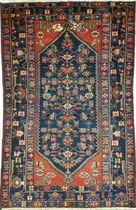 שטיח פרסי עבודת יד קולקציה המדאן דגם 928 בצבע רקע אדום