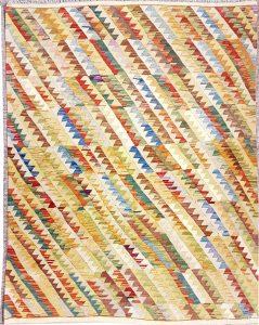 שטיח פרסי עבודת יד קילים דגם 1729 ציבעוני דו-צדדי צורות גיאומטריות
