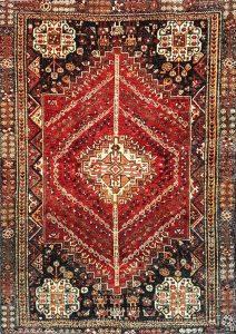 שטיח פרסי עבודת יד דגם שיראז 1021