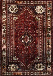 שטיח פרסי עבודת יד דגם שיראז 1023