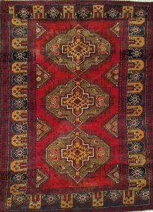 שטיח פרסי עבודת יד קולקציה בלוץ' דגם 1608 צבע רקע אדום