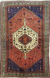 שטיח פרסי עבודת יד קולקציה המדאן דגם 914 בצבע רקע אדום