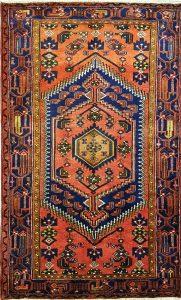 שטיח פרסי עבודת יד קולקציה המדאן דגם 915 בצבע רקע אדום