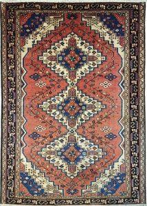 שטיח פרסי עבודת יד קולקציה המדאן דגם 919 בצבע רקע אדום