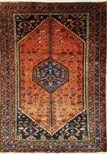 שטיח פרסי עבודת יד קולקציה המדאן דגם 923 בצבע רקע אדום