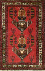 שטיח פרסי עבודת יד קולקציה שיראז דגם 1663 צבע רקע אדום יין